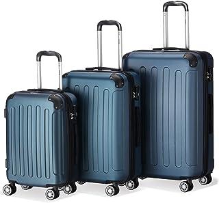 2045 3er Reisekoffer Set – Farbe Blau Größe M L XL Hartschalen-Koffer Trolley..