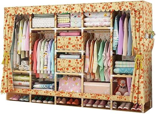 compras de moda online QQA Lienzo Armario Muebles de Dormitorio Armario Ropa Almacenamiento Almacenamiento Almacenamiento Organizador  venta con alto descuento