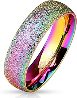 Paula & Fritz® Sand Glitzer 6mm breit Damen-Ring Ve
