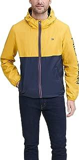 Men's Color Blocked Logo Rain Slicker Jacket