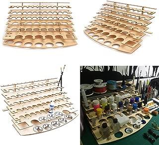 CoCocina 60 Pots Wooden Acrylic Color Paints Bottle Paint Shelf Storage Rack Holder Desk Organizer