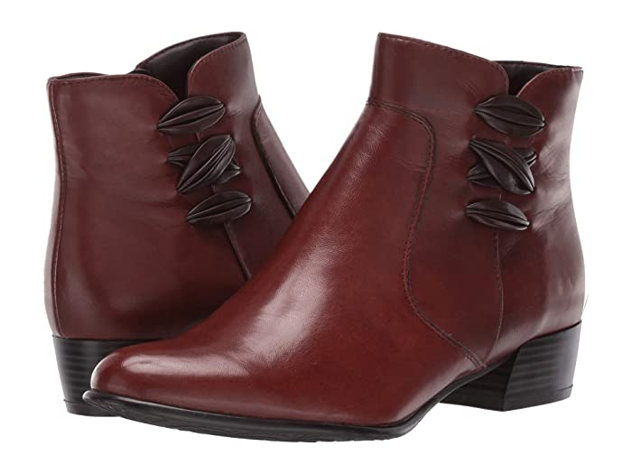 Vintage Boots, Granny Boots, Retro Boots Spring Step Terenie Medium Brown Womens Boots $72.00 AT vintagedancer.com