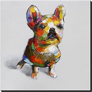 Asmork アートポスター絵画 インテリアパネル ポスター アート 絵画 壁掛け 抽象画 絵画 油絵 アートパネル ウォールアート 壁掛け インテリア ファブリックパネル犬30*30cm