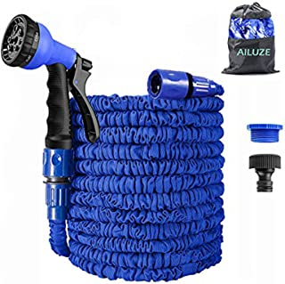 Garden Hose 50Ft,Expanding Garden Water Hose Pipe with 8 Function Spray Gun,3 Times Expandable Watering Hose,Flexible Magi...