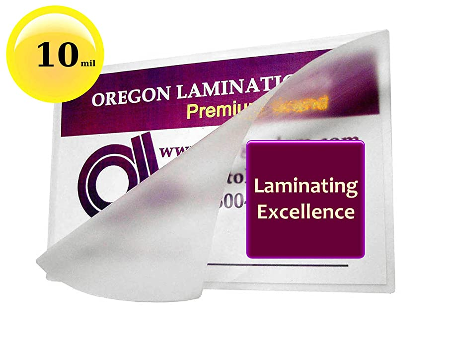 Oregon Laminations Premium 10 Mil Letter size Hot Laminating Pouches 9 x 11-1/2 (Pack of 500) Clear