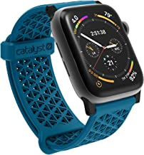 Compatible with Apple Watch Band 42mm 44mm, Hypoallergenic, Breathable Wristband, Soft Silicone Replacement Bands, Sport Band for iWatch Series 1,2,3,4,5 by Catalyst - Blueriddge/Sunset