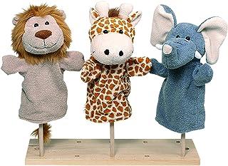 Goki- Marionetas de mano, animales salvajes, Color mixto (
