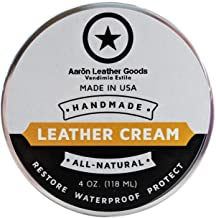 Leather Care Supply Leather Cream - Restores, Conditions & Protects. All Natural, Non-Toxic. Made in The USA
