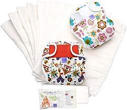 Bambino Mio Miosoft - Set de pañales de tela, diseño girl, talla 1, 9 kg