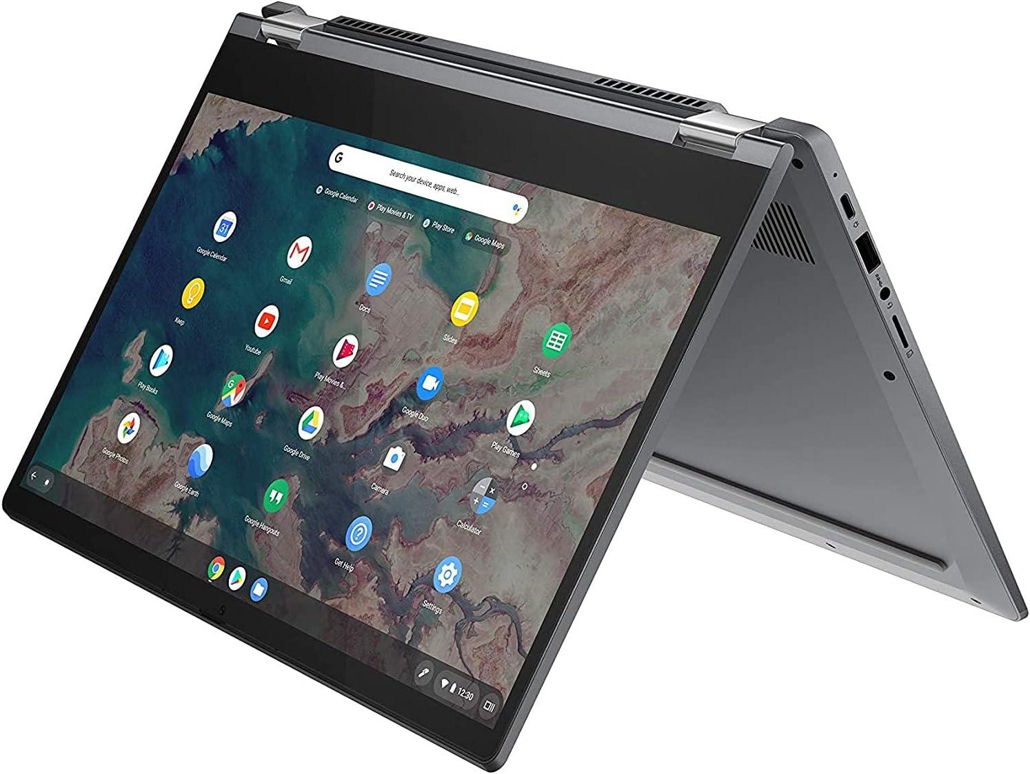 Lenovo Chromebook Flex 5 Convertible 2-in-1 Laptop 13.3 FHD Touch Display Intel Core i3-10110U (Beats i5-7200U) Processor 8GB DDR4 RAM 128GB SSD Intel Integrated Graphics Chrome OS (Renewed)