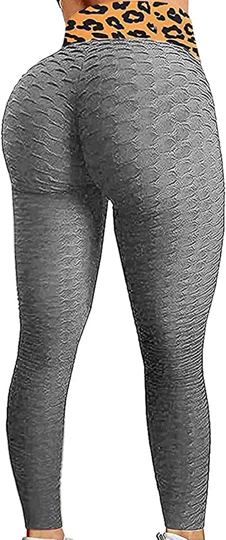 Scrunch Leggings,Women Butt Lift Leggings Workout Yoga Pants Ruched Booty High Waist Leggings Compression Tights