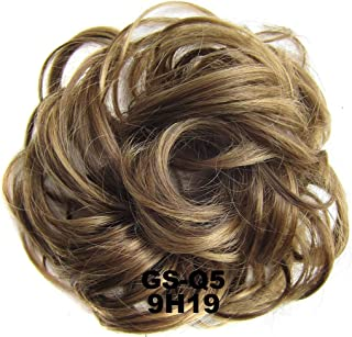 Hair Scrunchies Real Natural Curly Messy Bun Hair Piece Updo Scrunchie Hair Extensions As Human Dark Sand Mix Blonde