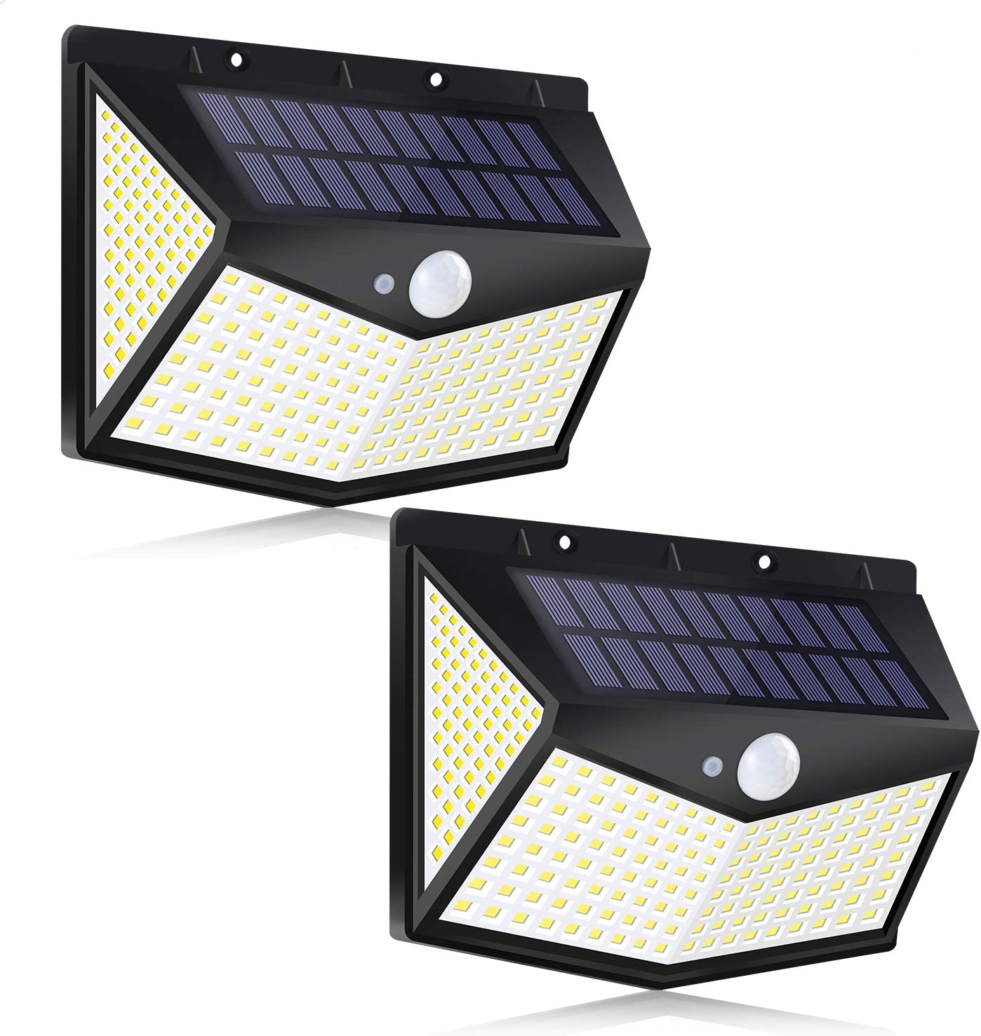 Leehby 212LED 2-Pack Outdoor Solar Wall Lights $14.99 Coupon