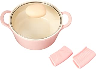 Retro 1.5-Quart Stock Pot with Glass Lid, Pink, Dutch Oven