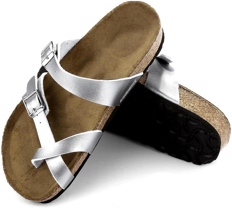 Iekofo Men Women Unisex Synthetic Leather Slipper Slip On Casual Sandal shoes Sandals