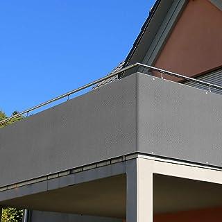 RATEL Brise Vue pour Balcon, 90 x 500 cm HDPE Auvent de Balcon pour Jardin avec Protection Contre Le Vent et Les UV, et Do...