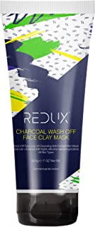 Redux Charcoal Face Clay Mask - Pore Cleansing - Wash Off Face Mask - 200G