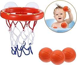 EXCEED Juego de aro de Baloncesto para baño Juego de Disparos en la bañera Juguetes con 3 Bolas y ventosas para niños, niñas, niños y niños pequeños