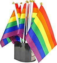 EEZYCHOIC 20 Piece Set of Mini Rainbow Flags - 8