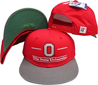 Ohio State Buckeyes Classic Split Bar Snapback Adjustable Snap Back Hat/Cap Red