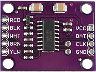 HALJIA HX711 Sensor de pesaje de electrónico de Alta precisión de 24 bits a/d ad Dual-Channel Conveter Memoria Compatible ...