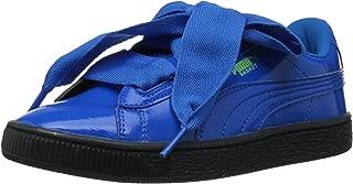 PUMA Unisex-child Basket Heart Iced Glitter Block Kids Sneaker
