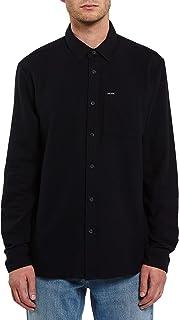 Volcom Men's Caden Solid Long Sleeve Button Down Shirt