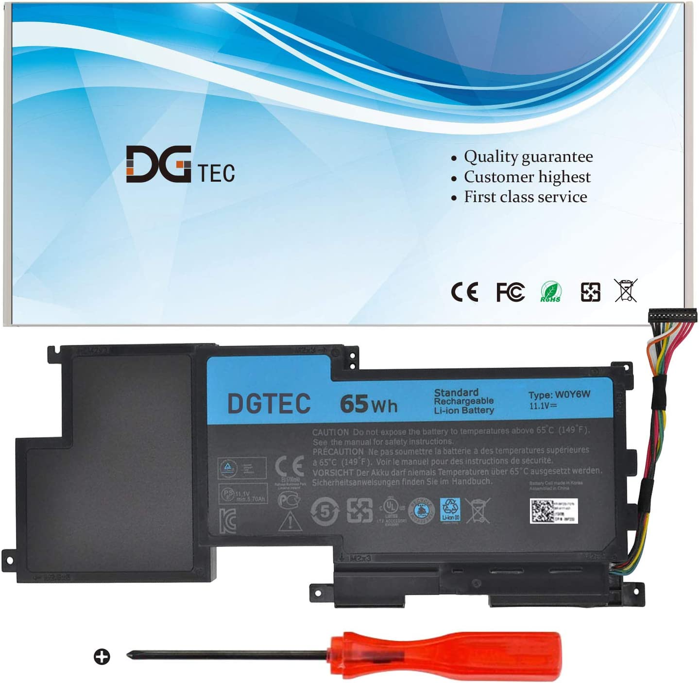 DGTEC W0Y6W Laptop Mail order Battery Replacement 15 15-L521X XPS for Dell Sacramento Mall