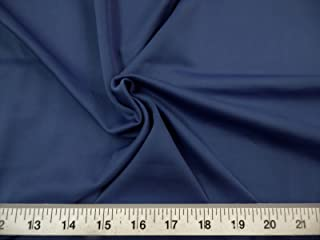 Fabric Techno Scuba Polyester Spandex 4 Way Stretch Navy TS05