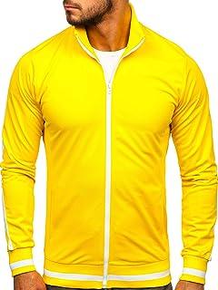 BOLF Felpa – Senza Cappuccio – con Zip – Collo Alto – di Cotone – Stile Sportivo – da Uomo Mix 1A1