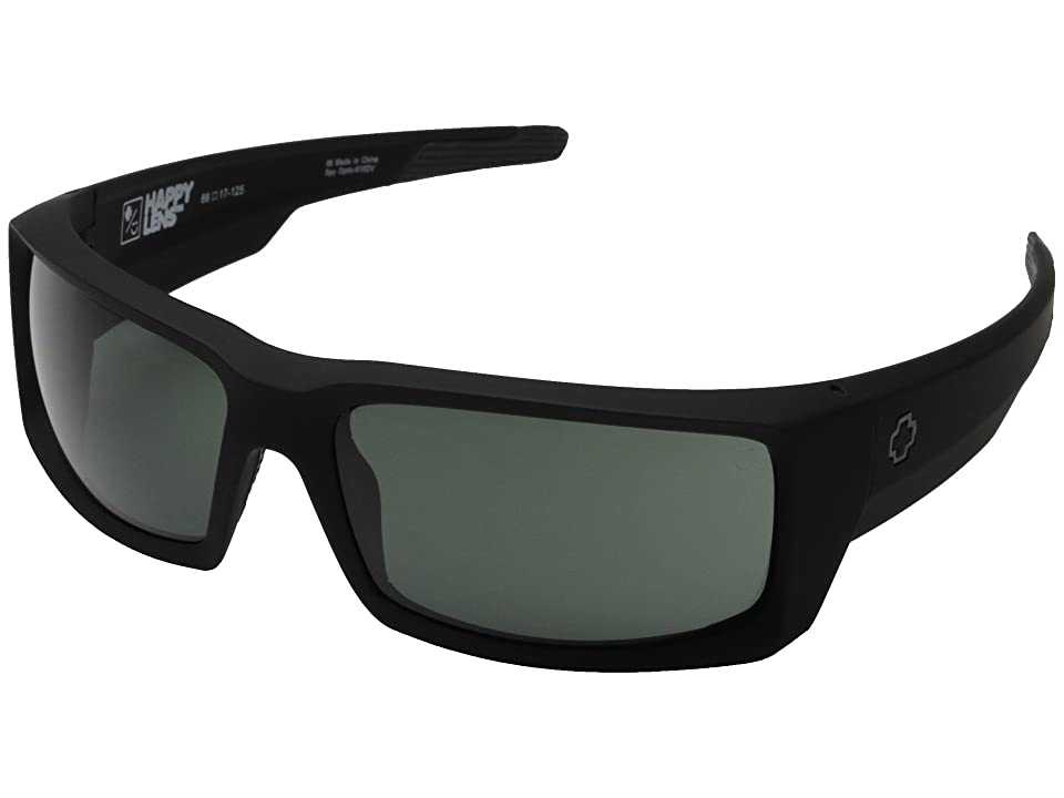 Spy Optic General (Soft Matte Black/Happy Gray Green) Sport Sunglasses