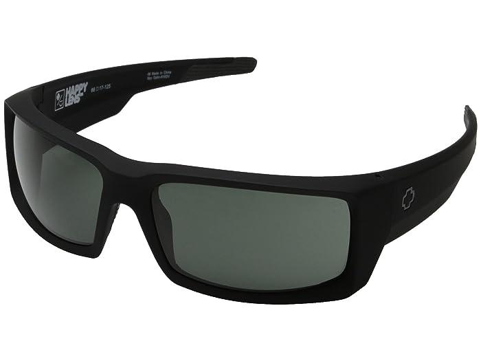 Spy Optic General (Soft Matte Black/Happy Gray Green) Sport Sunglasses