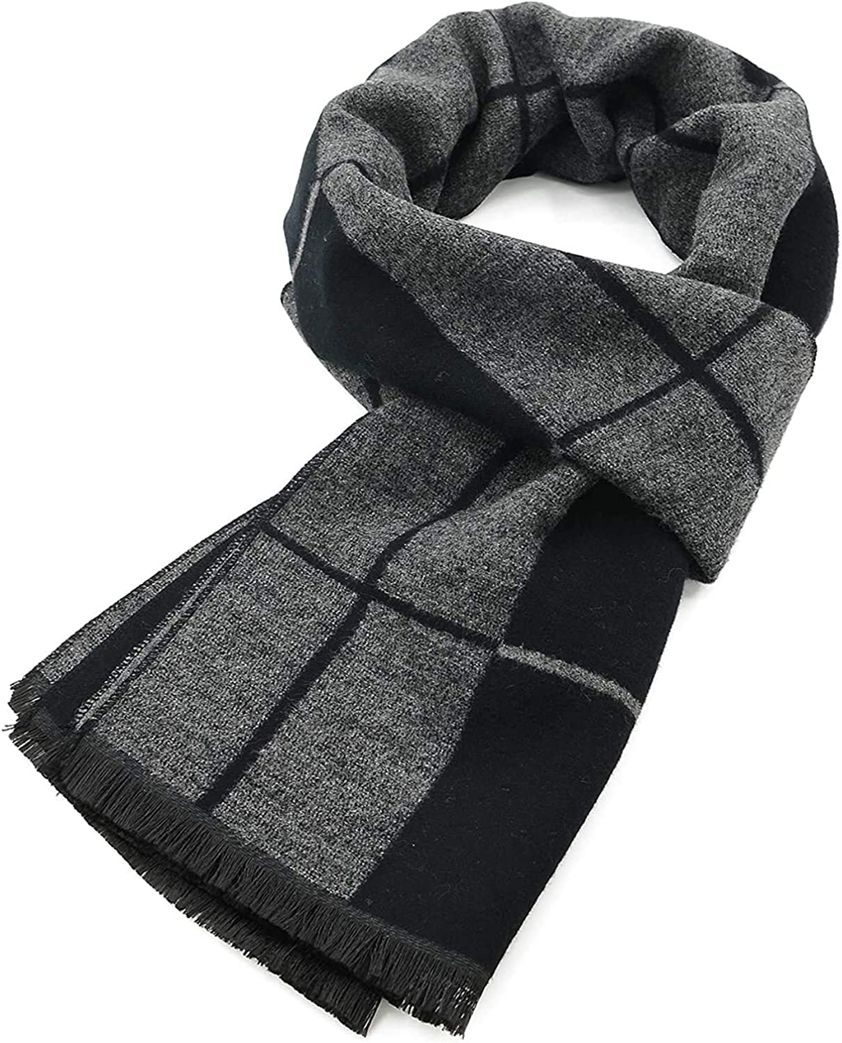 Fashion Scarves Blanket Men'S and Women'S Top Necks MKLP Tassel Scarf Winter Ladies Scarf Large Warm Shawl Plaid Scarf Large Shawl Keep Warm and Prevent Cold For Women