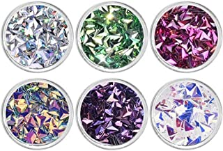 6 Pc Irregular Paper Flake Slice Sequins Nail Art Rhinestone Good Popular Nails Crystal Stones Set Painting Pen Brushes Stamping Plates Tools Water Transfer Acrylic Heart Halloween Tips, Type-05