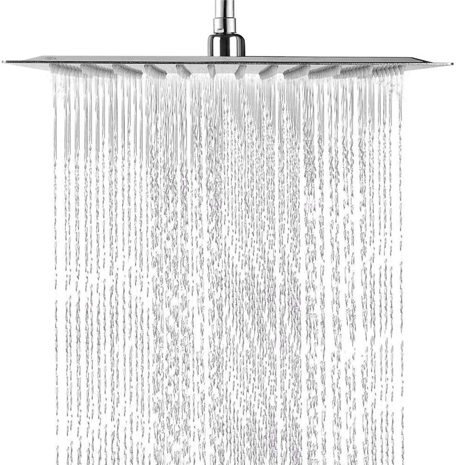 8.12 Inches Overhead Rain Shower Square Shower Head Rain Shower Head with Rain Shower Head Shower Head Shower Shower Luxury Polished Stainless Steel with Anti-Lime Nozzles Ultra Mirror Effect