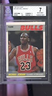 1987-88 Fleer #59 Michael Jordan Chicago Bulls NM BGS 7 Graded Basketball Card