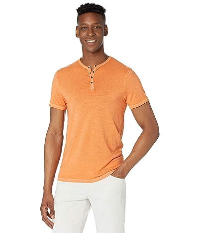 Buffalo David Bitton Kasum Short Sleeve Split Neck Henley (Dusty Orange) Men