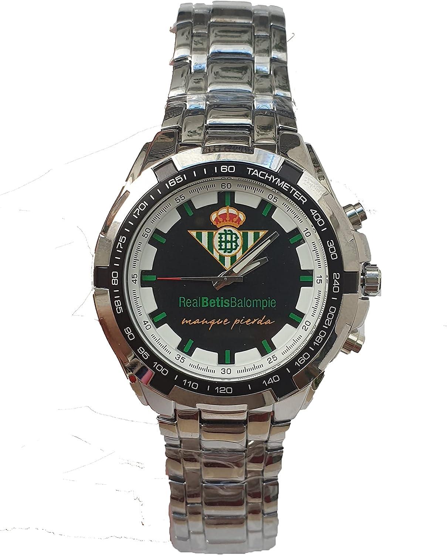 Reloj Real Betis Balompié, Reloj Exclusivo con la Imagen del Escudo y la Frase manque pierda