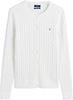 Gant Stretch Cotton Cable Crew Womens Cardigan