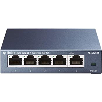 TP-Link 5ポート スイッチングハブ 10/100/1000Mbps ギガビット 金属筺体 設定不要 ライフタイム保証 TL-SG105V6.0