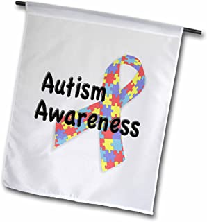 3dRose fl_113704_1 Autism Awareness Autism Speaks Garden Flag, 12 by 18-Inch