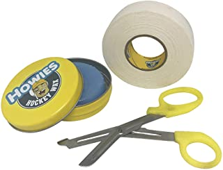 Howies Hockey Tape Bundle with Wax and Scissor for Ice Hockey Bundle Includes One Roll of Tape, One Tin of Wax, and One Sc...