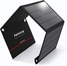 Aeiusny Foldable Solar Charger 40W Portable Solar Panel Charger with DC Output Waterproof for Jackery/Suaoki Portable Generator and USB QC 3.0 Charger for Laptop/iPhone 5-18V Device for Camping