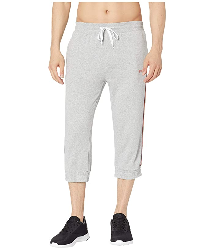2(X)IST Athleisure Pride Cropped Jogger with Rainbow Trim (Heather Grey) Men