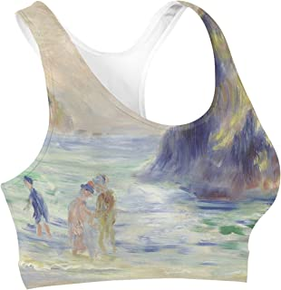 Rainbow Rules Renoir Guernsey Art Painting Sports Bra