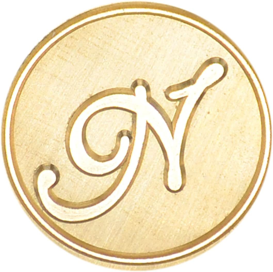 Syaya timbro stile retr/ò con testa in ottone e manico in legno ceralacca classico con sigillo GZ4 K 26/lettere dellalfabeto dalla A alla Z