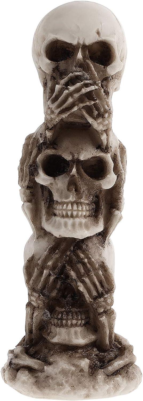 IMIKEYA Year-end gift Skull Miami Mall Head Decor Sculptu Resin Realistic