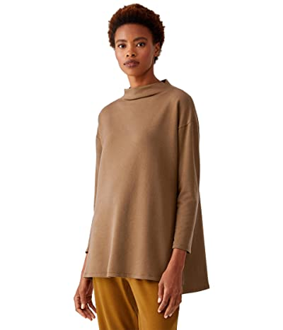 Eileen Fisher Funnel Neck Tunic (Hazel) Women