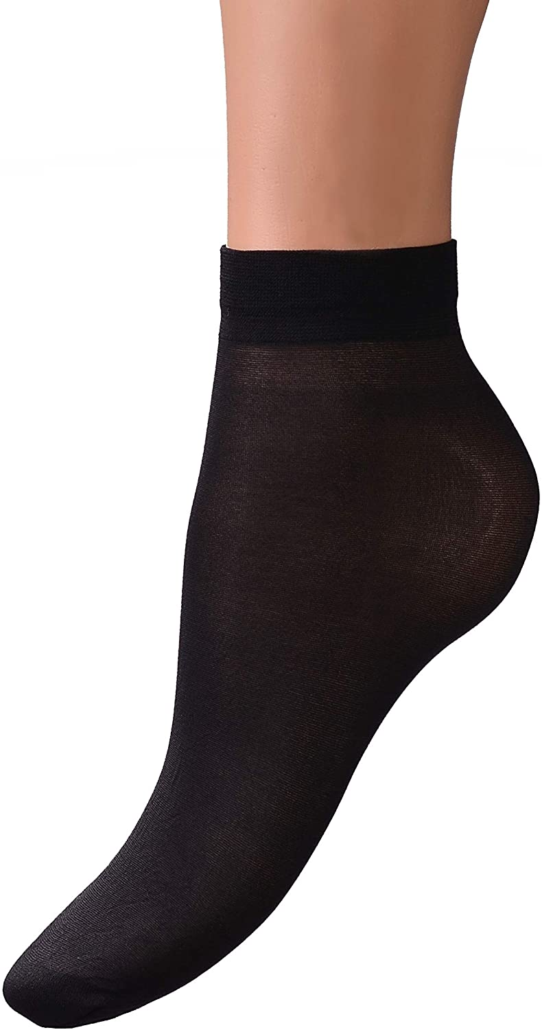 INTRIGUE Sheer Ankle Socks - Cute Nylons for Women - 8 Pairs