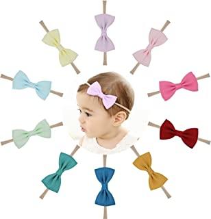 Baby Nylon Headbands Hairbands Hair Bow Elastics for Baby Girls Newborn Infant